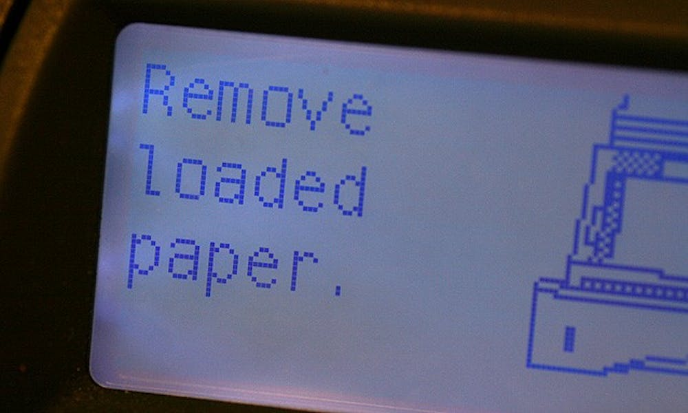 The Office of Information Technology responded to students' concerns over malfunctioning printers around campus. OIT says the sheer size of the system, which incldues more than 145 printers, makes occasional errors impossible to mitigate. Most errors are recognized and fixed immediately through routine screening.