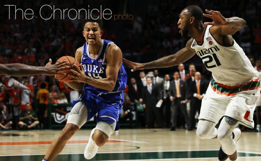 <p>Frank Jackson went on a personal 7-0 run to tie the game at 39 with 8:42 remaining, finishing with 16 points.&nbsp;&nbsp;</p>
