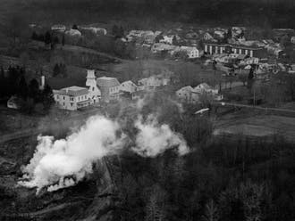 """Renée Jacobs's """"Slow Burn: A Photodocument of Centralia, Pennsylvania"""" is currently on display at the Rubenstein Library."""