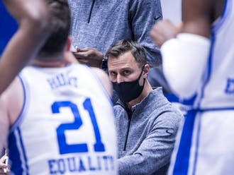 Associate head coach Jon Scheyer stepped in for Coach K to coach Duke to victory.