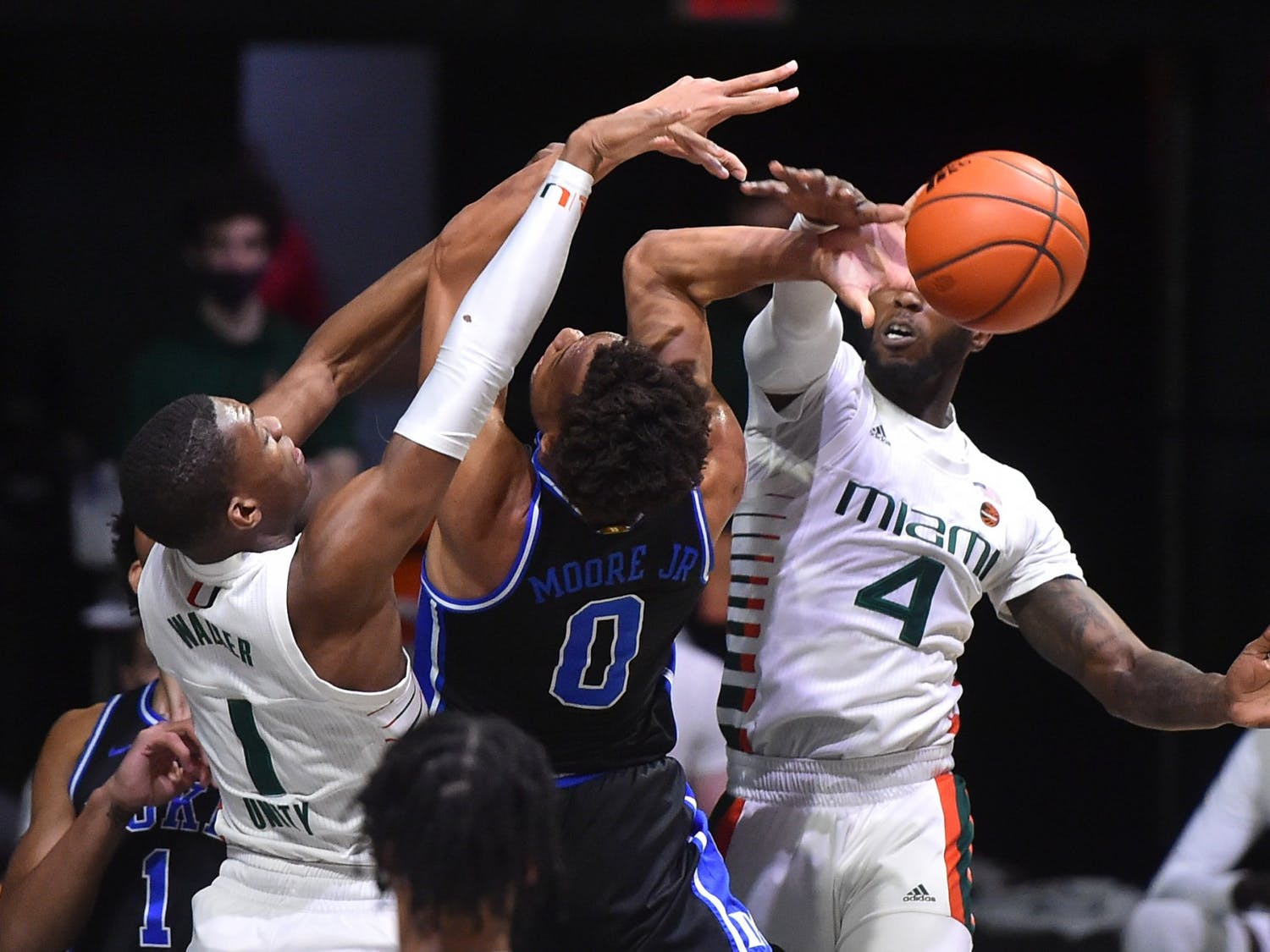 It was a sloppy game for the Blue Devils from start to finish.