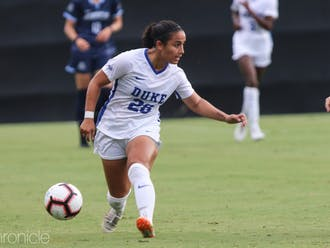 Graduate student Lily Nabet scored her second career goal Saturday, both coming against Syracuse.