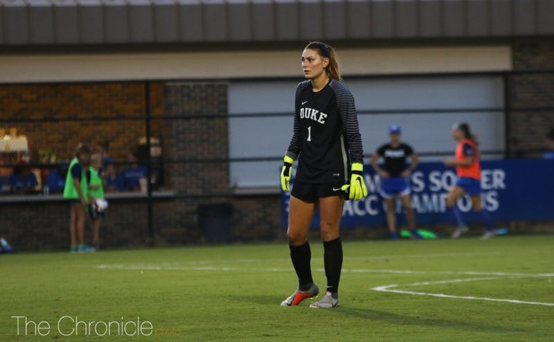 Goalkeeper Brooke Heinsohn is the anchor of a Duke defense that has shut out six opponents in its first nine games of 2018.