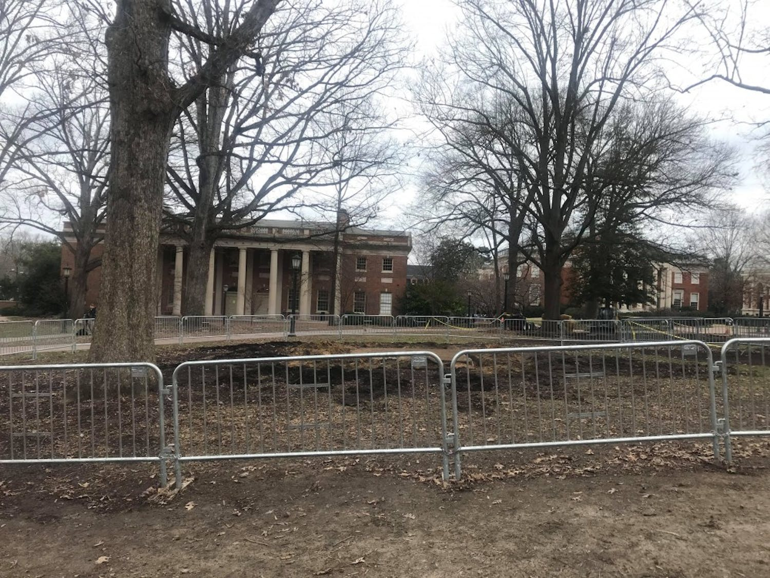 Silent Sam's base was pulled down overnight at UNC.