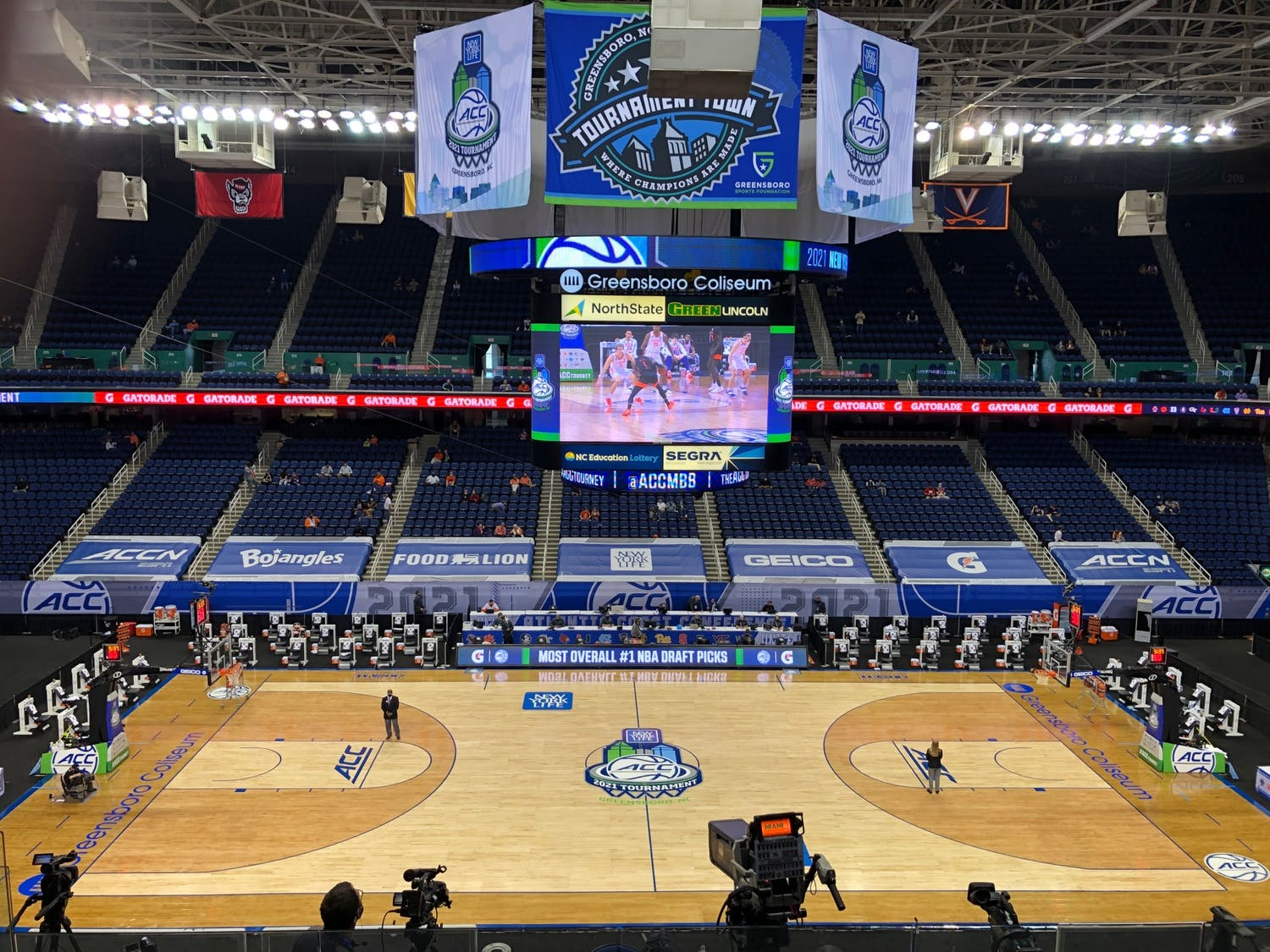 North Carolina state law allowed for a limited amount of fans at the ACC tournament.