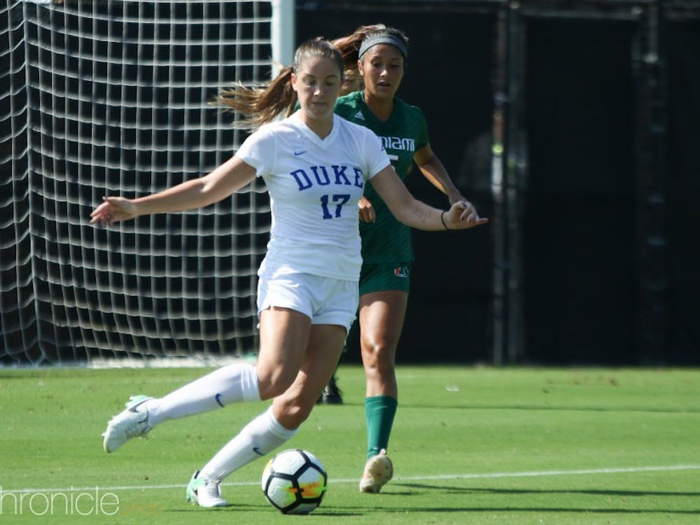 Ella Stevens delivered an assist against Syracuse and has been a key piece of Duke's 16-game winning streak.