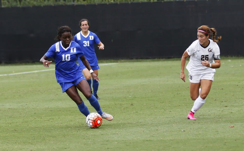 <p>Junior Toni Payne and the Blue Devils had multiple good looks Sunday but could not find the back of the net in a road loss against Louisiana State.</p>