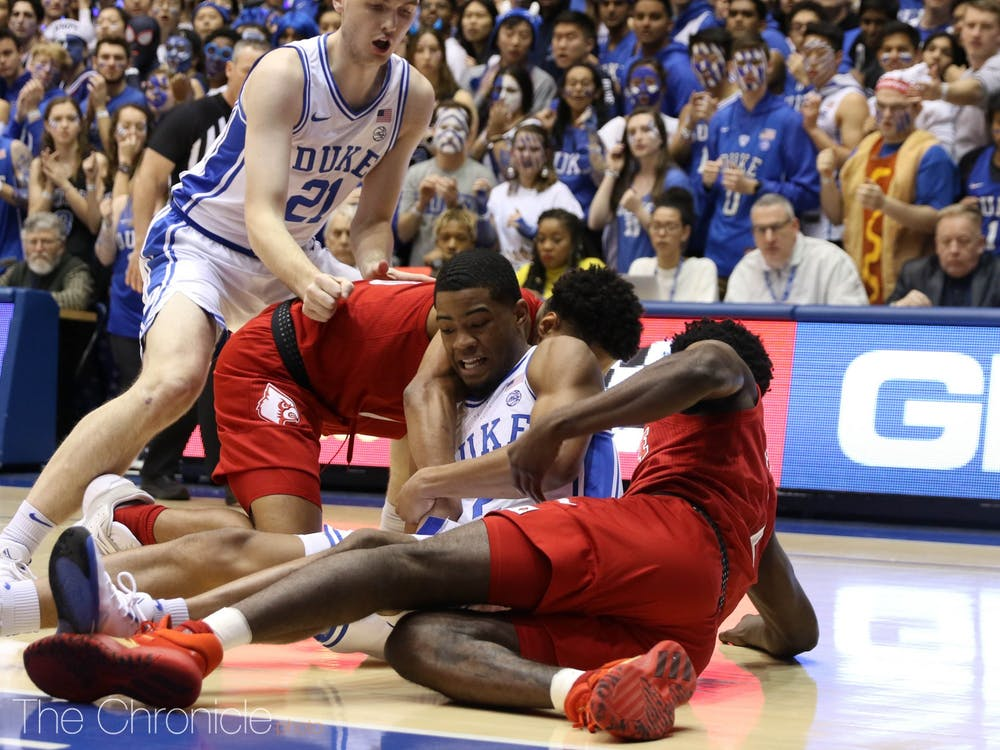 For the first 10 minutes of Saturday's matchup, Duke looked overmatched, falling behind 25-10.