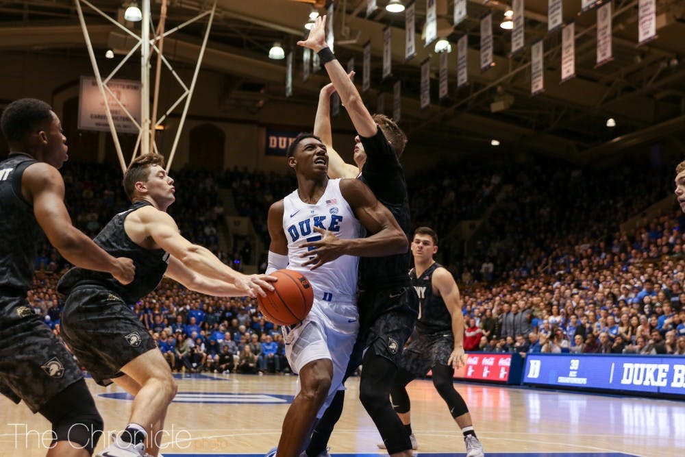 <p>R.J. Barrett will look to rebound from a 9-for-19 shooting performance Sunday.</p>