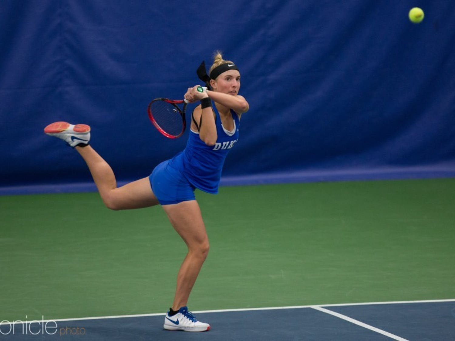 Kaitlyn McCarthy came up short in the deciding set of Sunday's matchup.