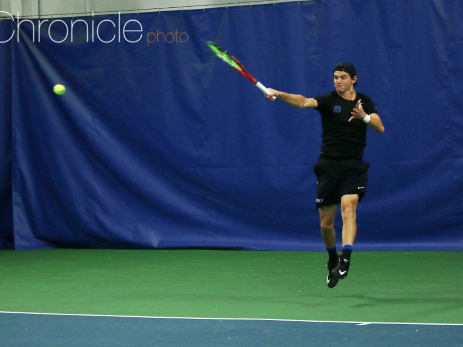 Rookie Spencer Furman posted the biggest singles win of his career Sunday in the Blue Devils' loss.