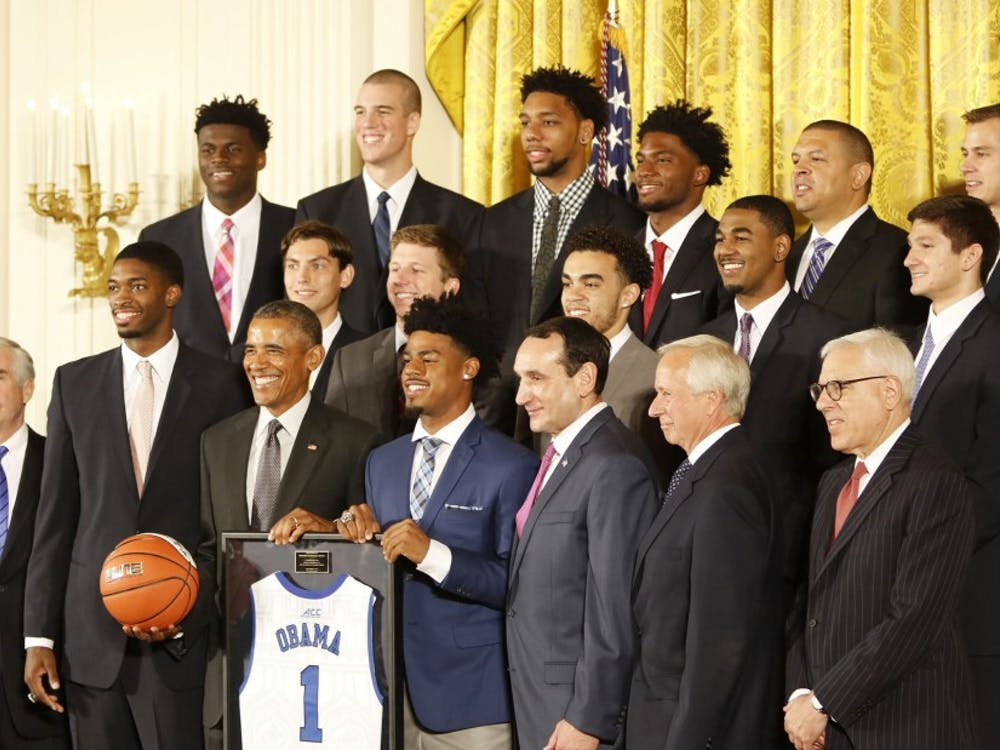 Duke visited President Barack Obama at the White House in September to celebrate the 2015 national title—one of outgoing sports editor Ryan Hoerger's favorite memories.