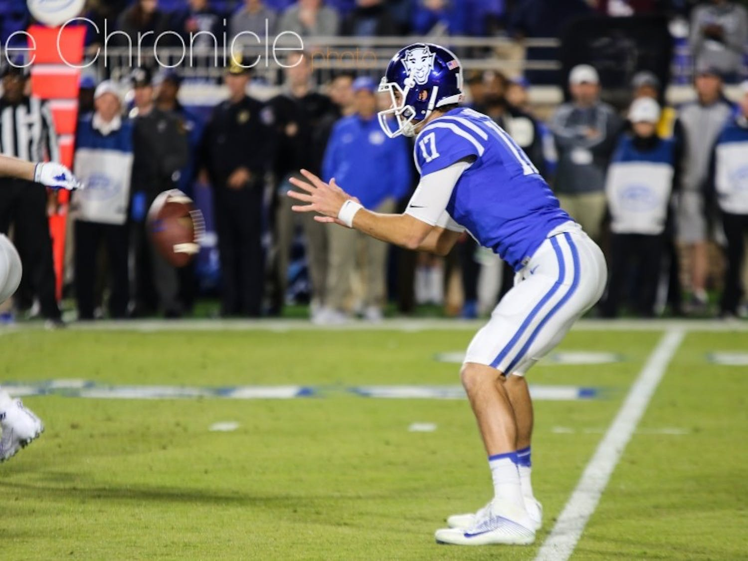 Daniel Jones threw for a touchdown and ran for two more in Duke's 28-27 upset of No. 15 North Carolina.