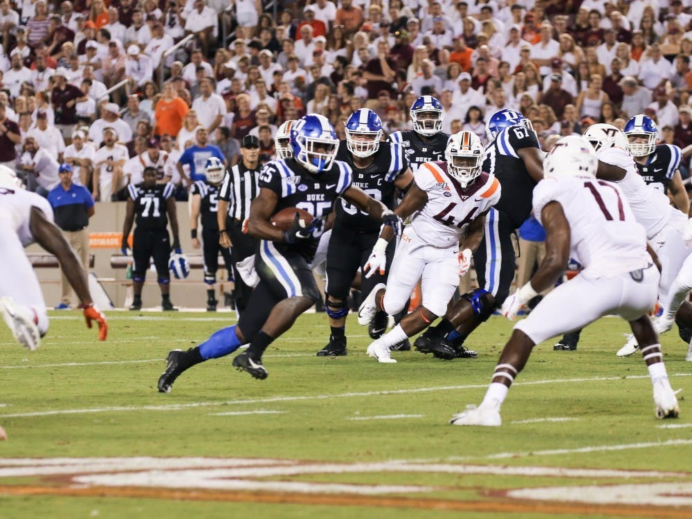 Getting the run game going will be a big part of Duke's offense Saturday.