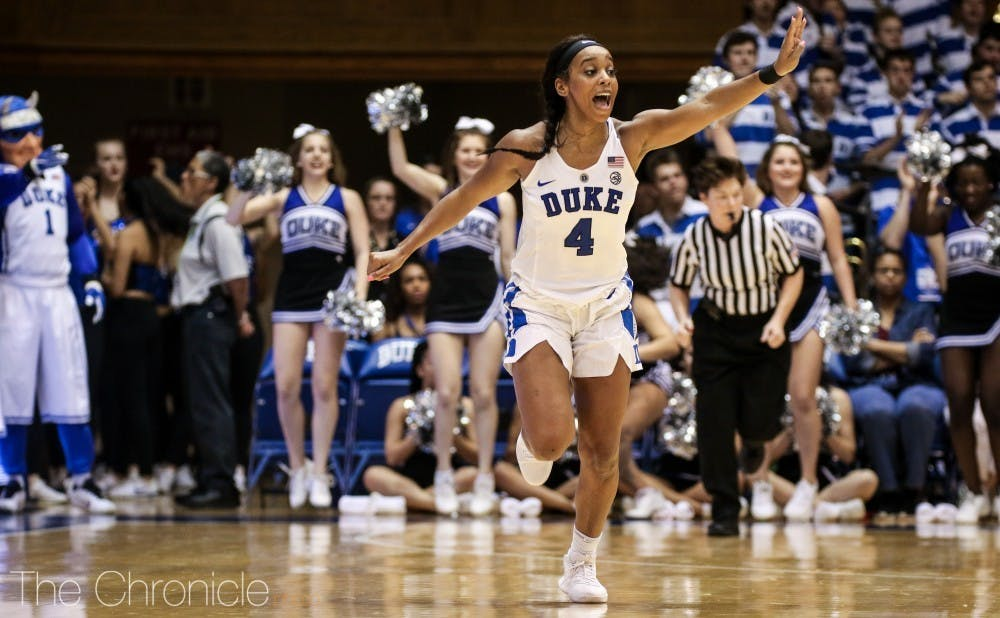 Lexie Brown will face a childhood friend when Duke plays Belmont Saturday morning.