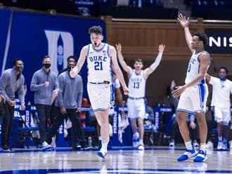 Matthew Hurt and Wendell Moore Jr. played key roles in Duke's victory over Boston College in early January.