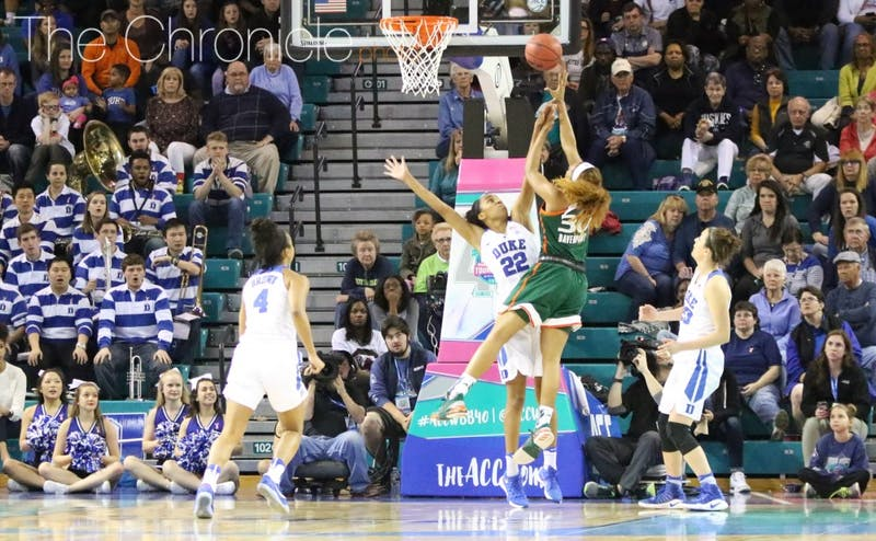 The Blue Devils held Miami to 2-of-17 3-point shooting to overcome another sloppy offensive performance.