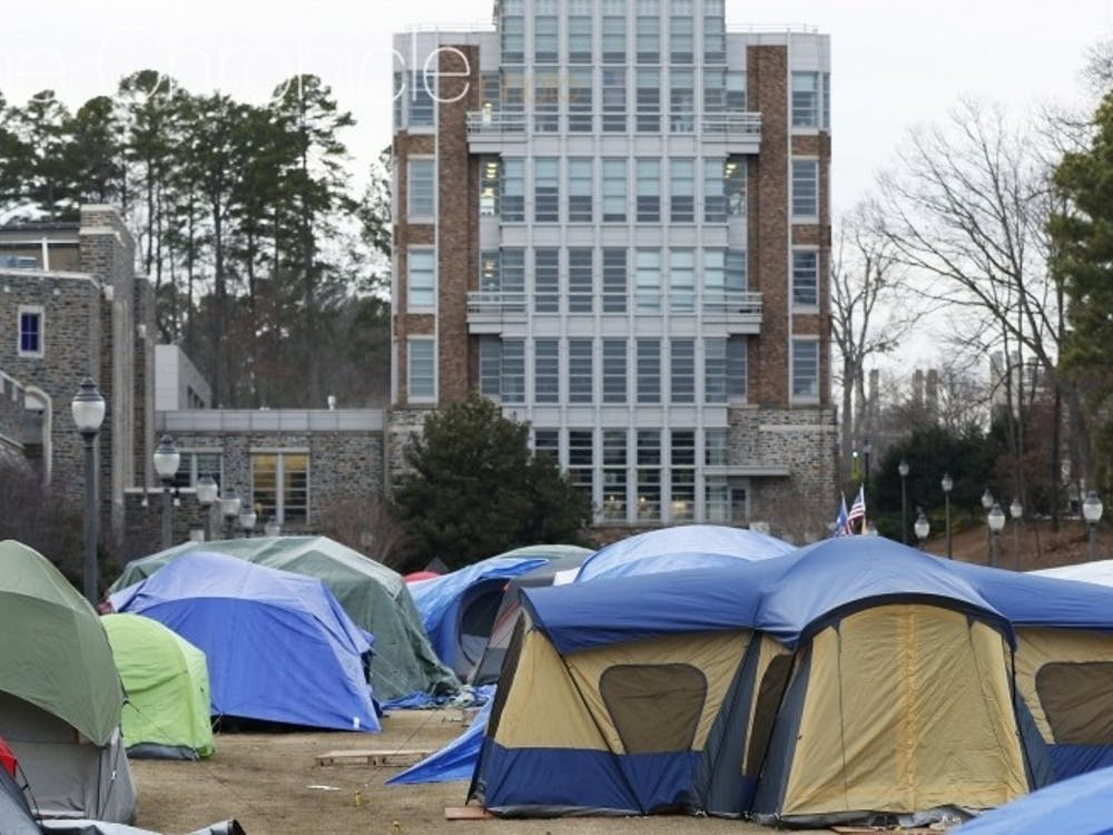 Krzyzewskiville is at full capacity for tenting with the North Carolina game just eight days away.