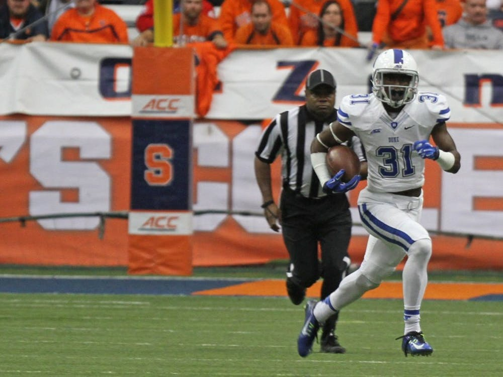 Sophomore Breon Borders had two interceptions on the afternoon, including a fourth quarter pick to help seal the game for Duke.
