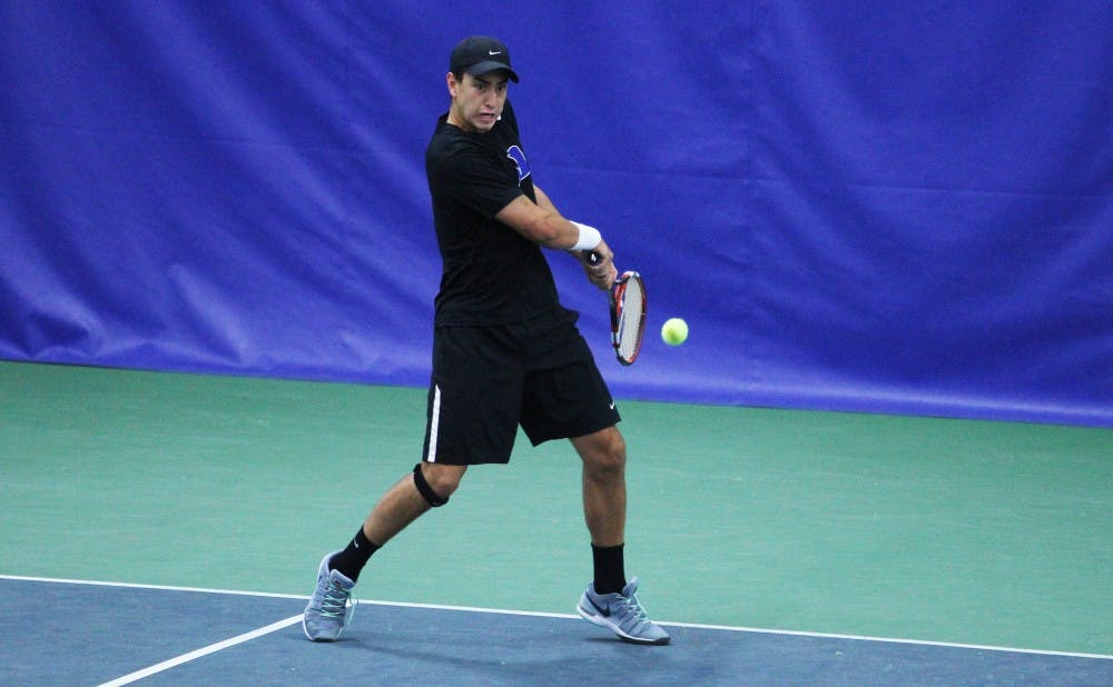 Freshman Nicolas Alvarez has missed Duke's last three matches with a muscle injury but could be back for the NCAA tournament opener May 8.