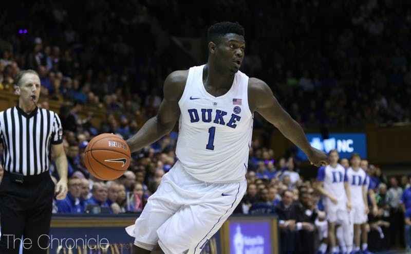 Zion Williamson led the Blue Devils Wednesday with another dominant effort.