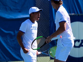 Michael Heller and Andrew Zhang were the only Duke doubles team to win its match against South Florida.