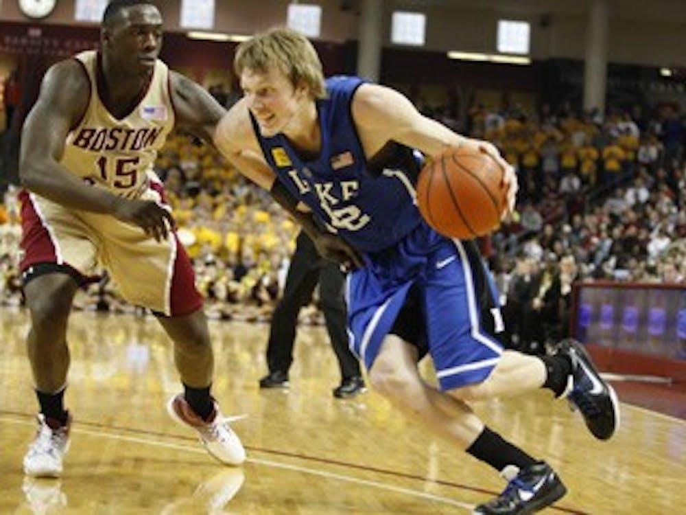 Duke Men's Basketball win against Boston College in Mass. 66 - 63 on 2/6/10.
