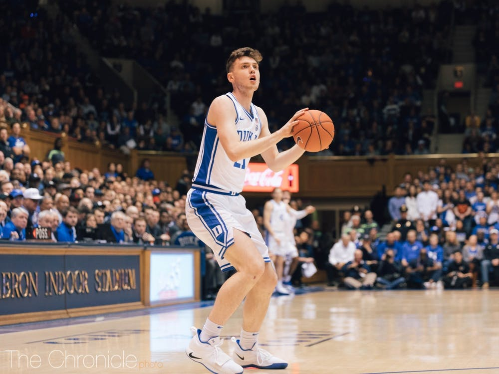 <p>Hurt leads the Blue Devils in 3-point percentage and 3-point field goals.</p>