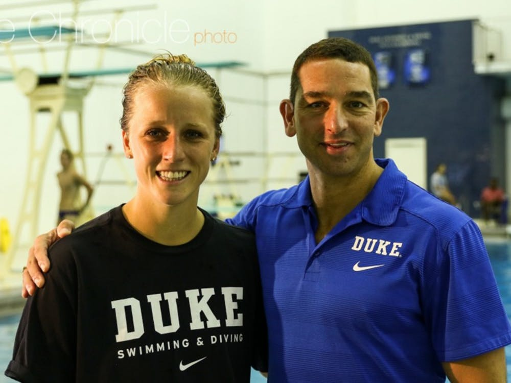 Duke diving head coach Nunzio Esposto was with Johnston in Rio as part of the U.S. coaching staff.