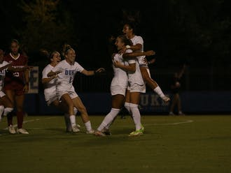 Duke beat Stanford 2-1 thanks to goals from Michelle Cooper and Caitlin Cosme.