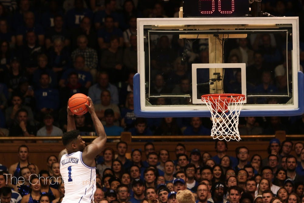 <p>Zion Williamson led the team in points with 29 and helped Duke outshoot and outshine the Red Storm.</p>