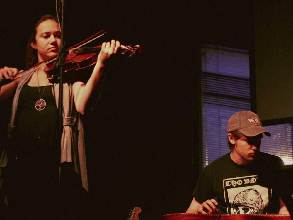 The Coffeehouse arts showcase featured experimental music by student groups like La Plastique, a four-piece ensemble.