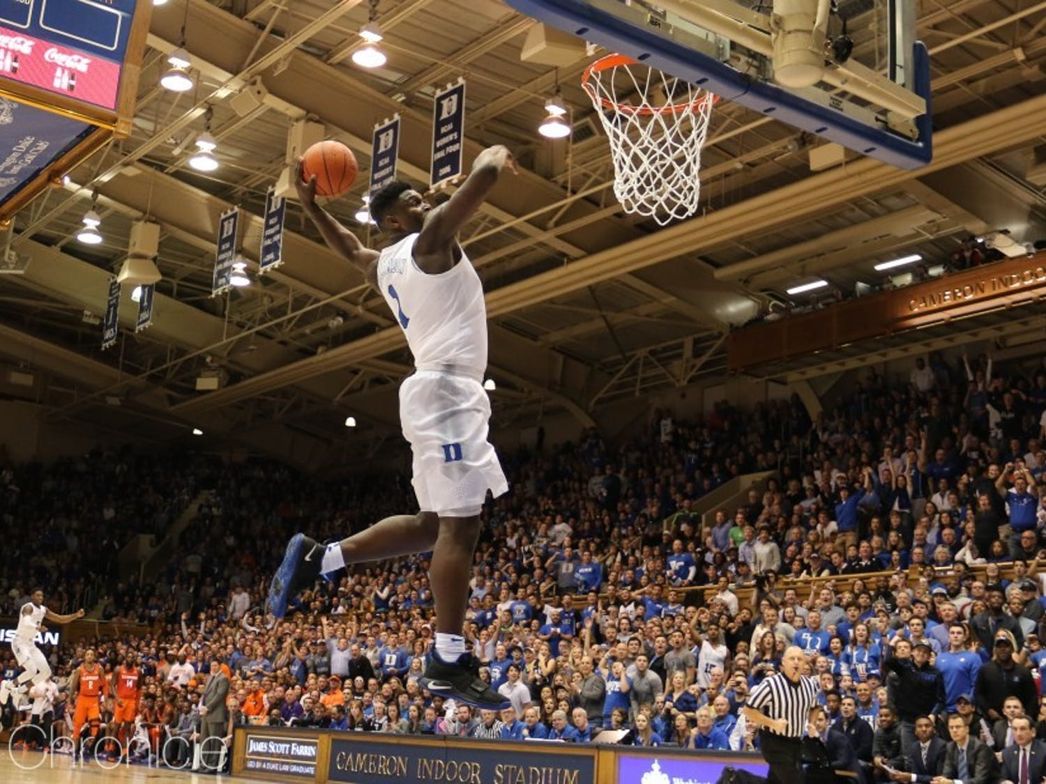 Zion's 360 dunk against Clemson Jan. 5 was one of just the many moments in which the National Player of the Year seemed to defy what humans can do on a basketball court.