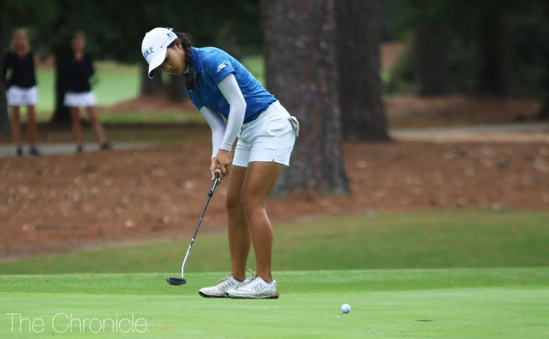 Jaravee Boonchant tied for third on the regional's individual leaderboard.