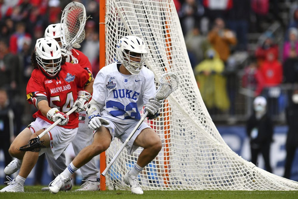Michael Sowers was held to just two goals in Duke's semifinal loss to Maryland.