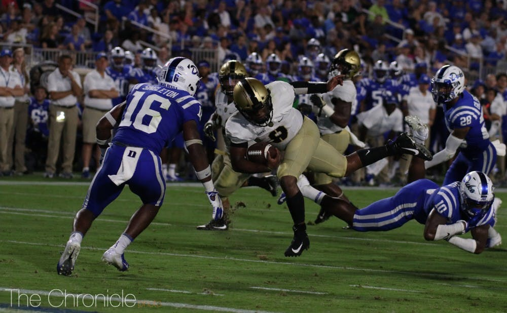 <p>Duke was able to stop Army's triple-option attack in the season opener.</p>