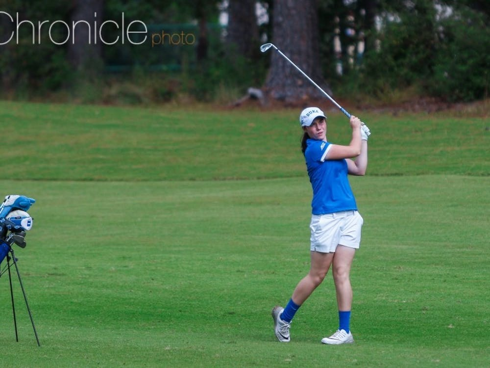 Leona Maguire finished tied for second just one stroke behind the individual national champion, but she was the only Blue Devil golfer in the top 80.