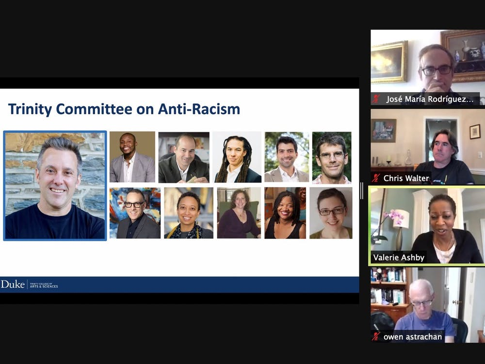 Valerie Ashby, dean of the Trinity College of Arts and Sciences, updated faculty on the Trinity Committee on Anti-Racism during her fall update to the Arts and Sciences Council.