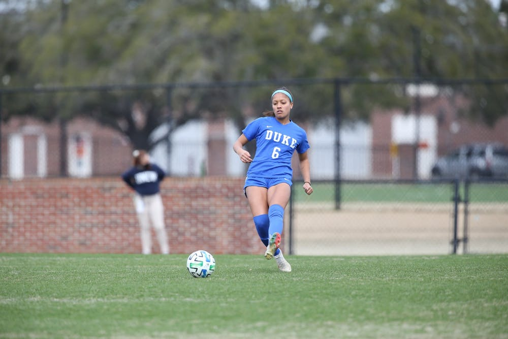 Senior Caitlin Cosme notched a goal and an assist in the win.