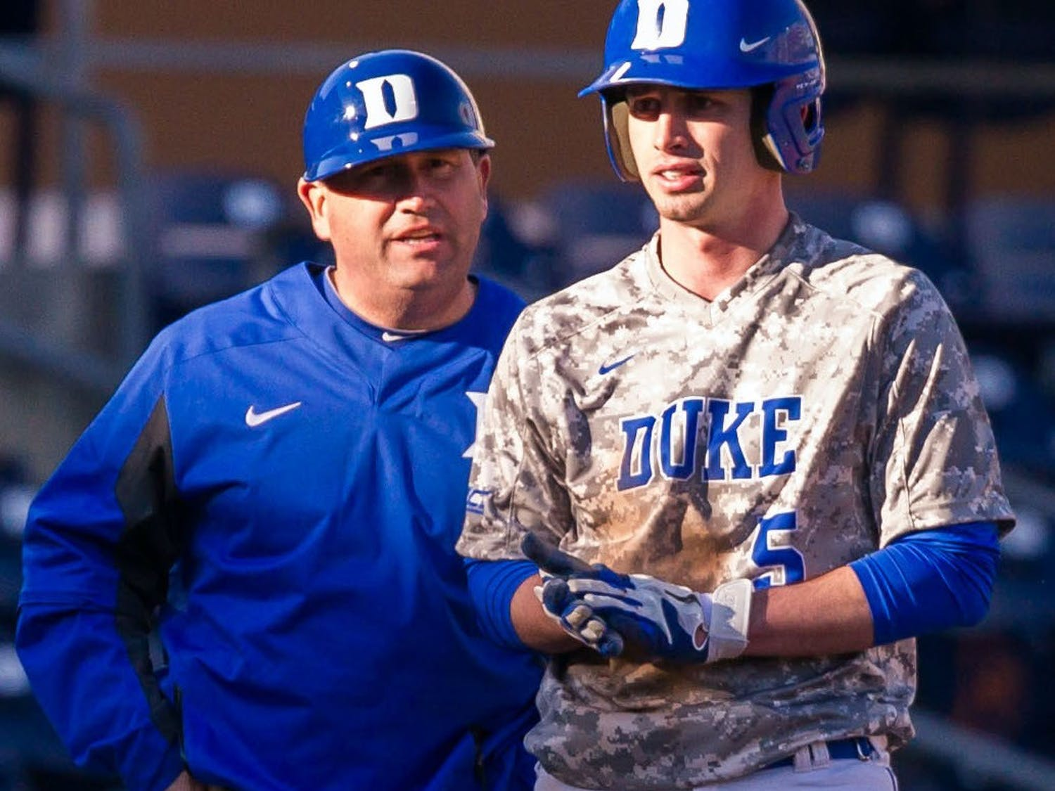 Blue Devil hitting coach Jason Stein (left) has made sure to use all available data to his advantage.