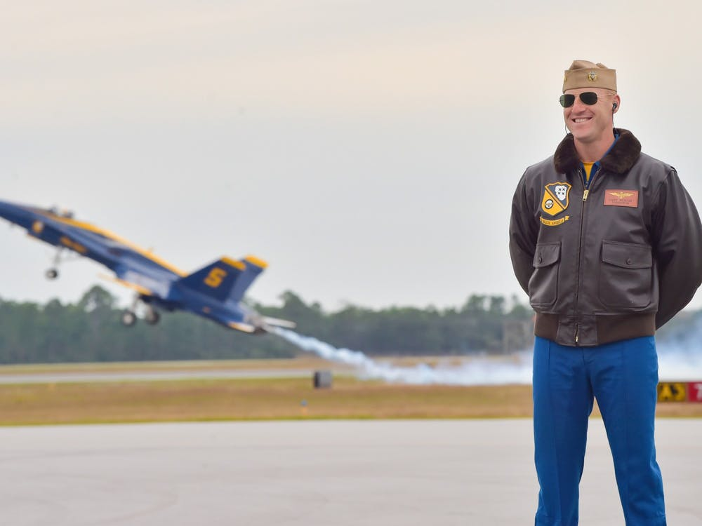 <p>Dale Rickoff, Trinity '09, is a pilot for the famed Blue Angels.&nbsp;</p>
