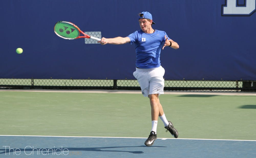 <p>&nbsp;Spencer Furman clinched the Blue Devils' upset victory Friday.</p>