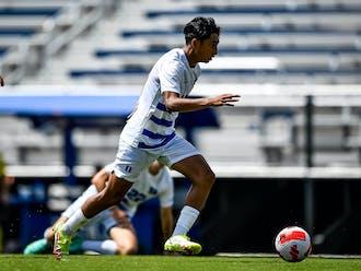 Freshman midfielder Felix Barajas scored his first two career goals against Merrimack.