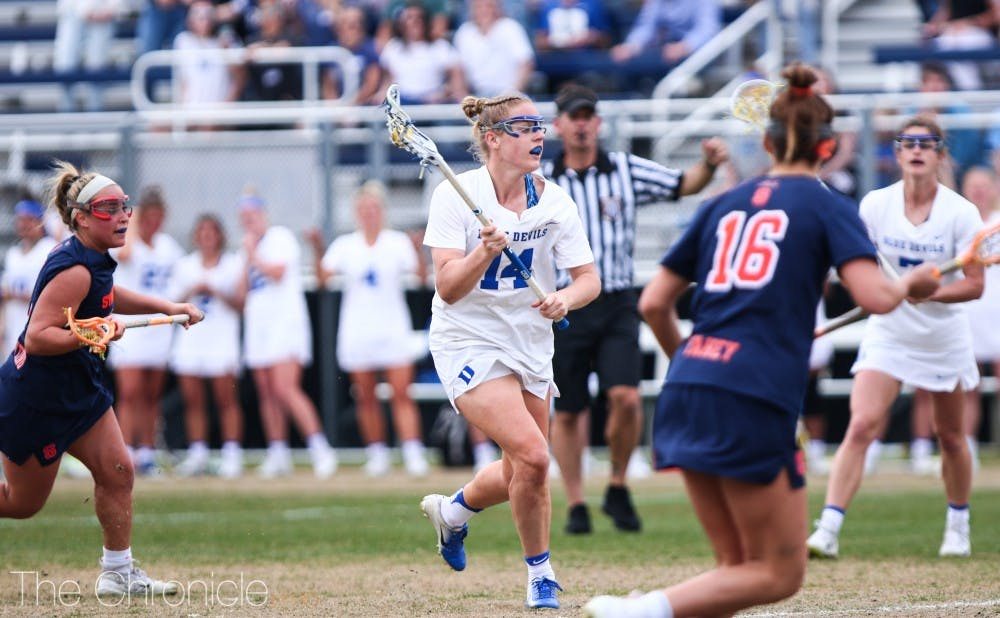 <p>Olivia Jenner added a hat trick and controlled the faceoff X Saturday.</p>