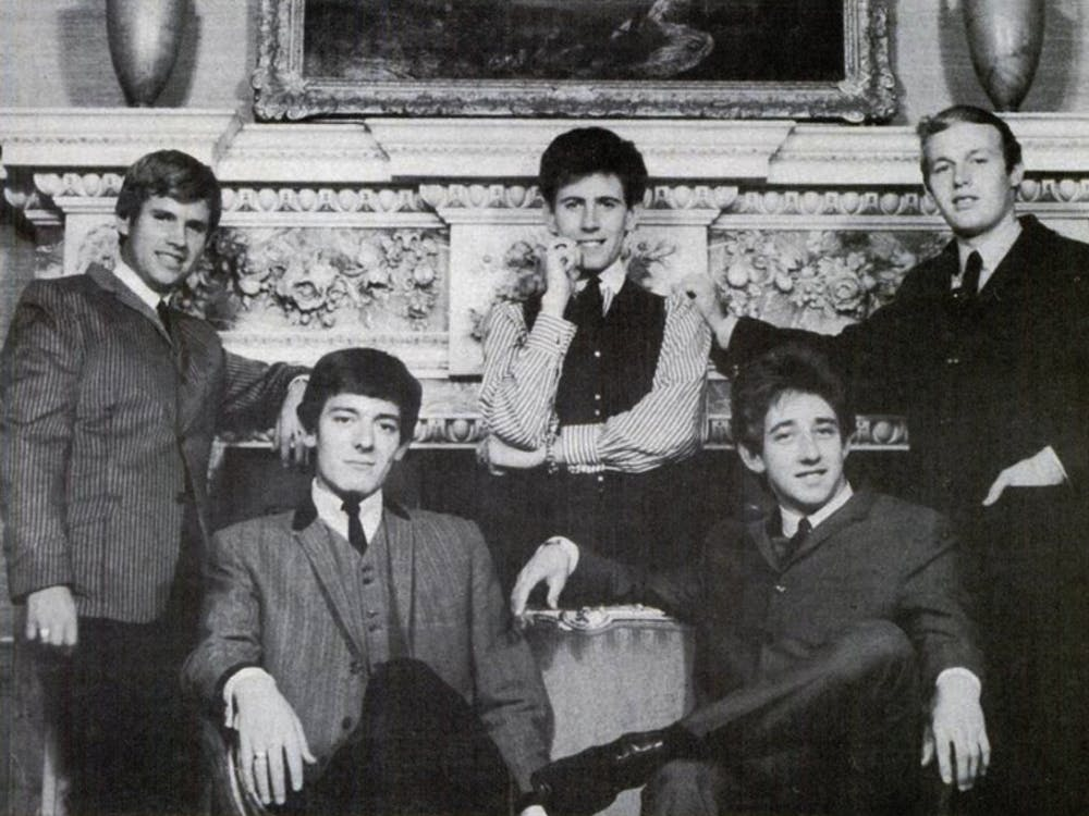 "The Hollies, pictured in 1965, make the perfect soundtrack to the morning bus rush with their hit ""Bus Stop."""