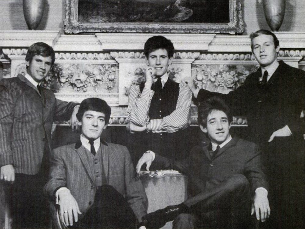 """The Hollies, pictured in 1965, make the perfect soundtrack to the morning bus rush with their hit """"Bus Stop."""""""