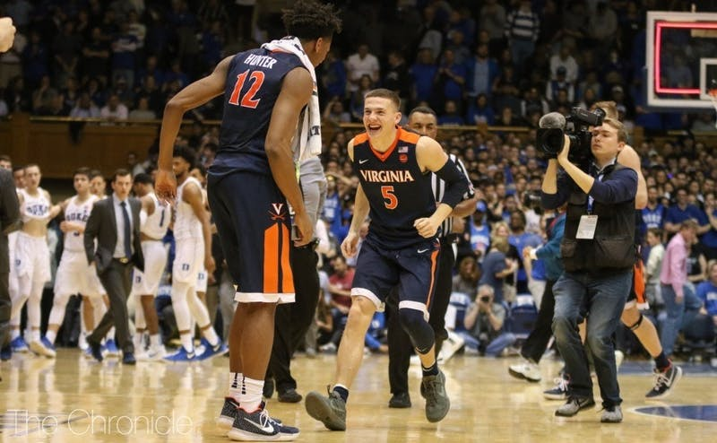 Kyle Guy and his Virginia team will not see UMBC nemesis K.J. Maura in Duke's student section this weekend.