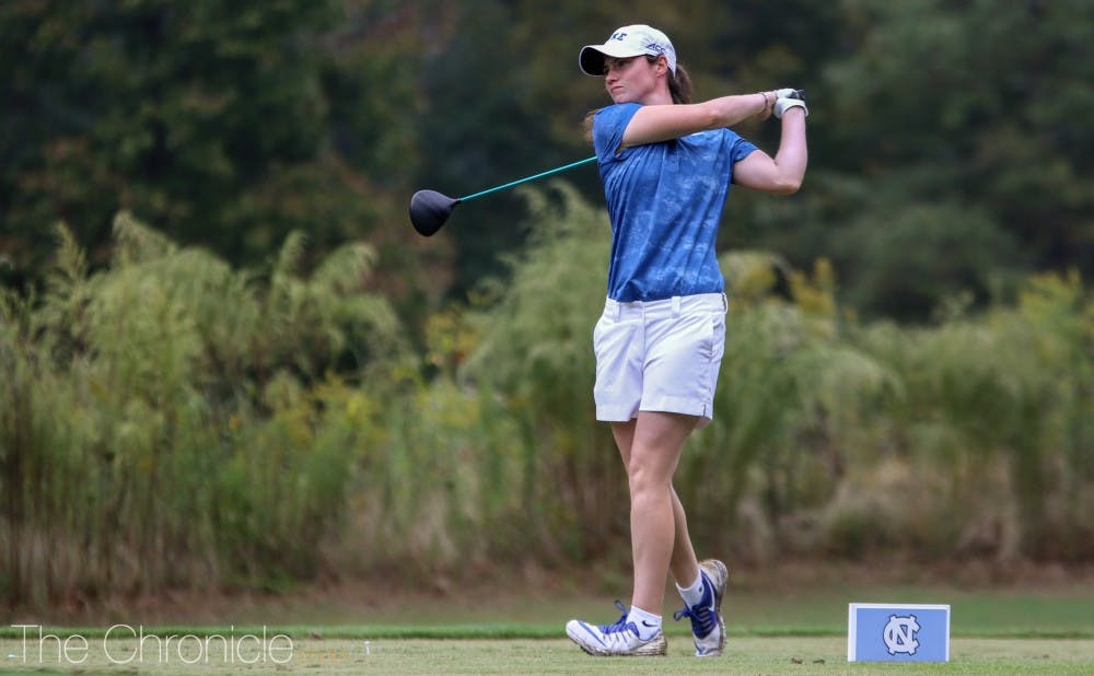 <p>Leona Maguire ended her career as the Division I record holder for lowest average score with a minimum of 100 rounds.</p>