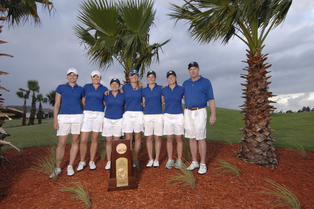 The 2006-07 Blue Devil squad overcame harsh weather and a slow start in Daytona Beach, Fla. to complete the three-peat.