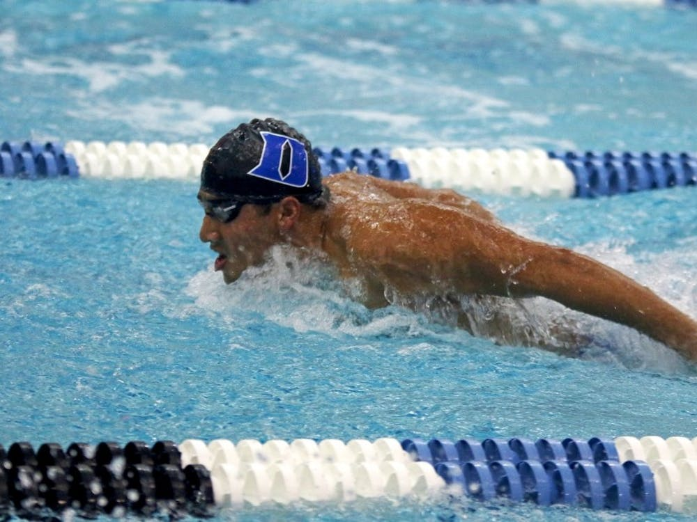 The Blue Devils closed out the ACC championships in eighth place with 643 points,a jump of more than 200 points from last year's ninth-place showing.